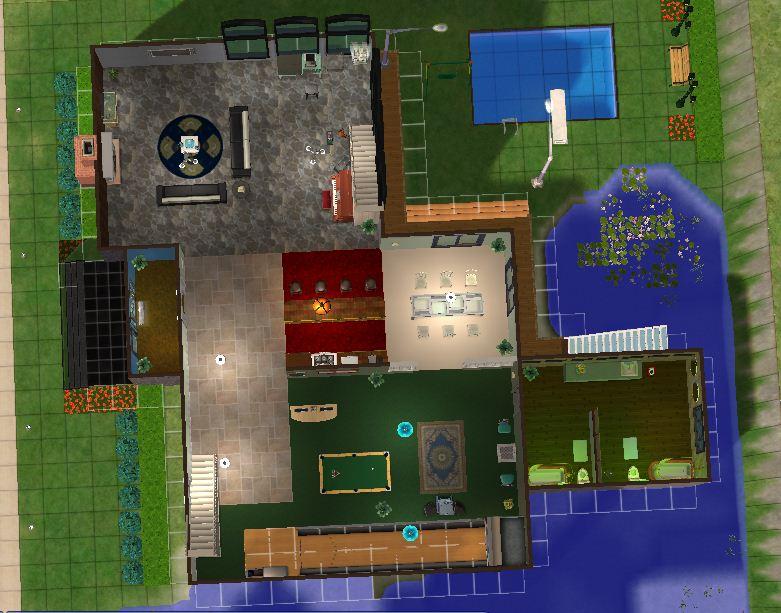 Full house atas lantai 1 & HOUSE AND BUILDING DESIGNS (Desain Rumah dan Bangunan) only using ...